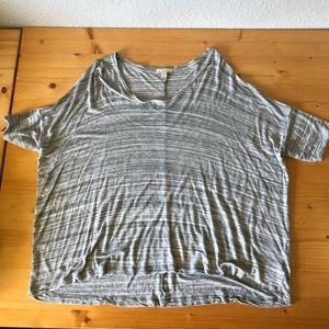 Gap hi-low shirt grey striped
